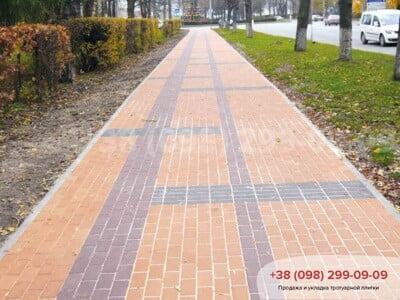 Тротуарная плитка Кирпич Персикфото 5
