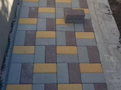 Тротуарная плитка Кирпич Желтаяфото 16