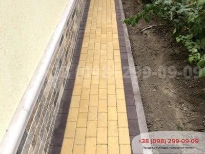Тротуарная плитка Кирпич Желтаяфото 17