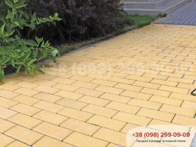 Тротуарная плитка Кирпич Желтаяфото 1