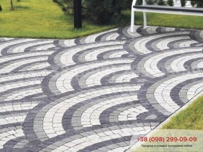 Тротуарная плитка Креатив Белаяфото 2