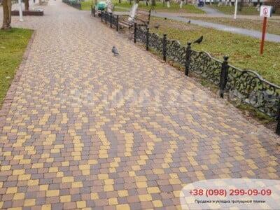 Тротуарная плитка Креатив Коричневаяфото 7