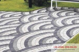 Серый Тротуарная плитка Креатив Серая