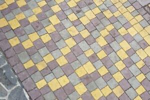 Желтый Тротуарная плитка Креатив Желтая