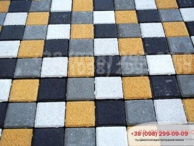 Тротуарная плитка Квадрат 100х100 белаяфото 1