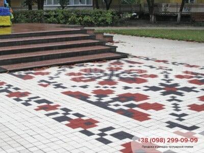 Тротуарная плитка Квадрат 100х100 белаяфото 2