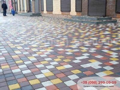 Тротуарная плитка Квадрат 100х100 белаяфото 4