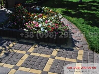 Тротуарная плитка Квадрат 100х100 чернаяфото 4
