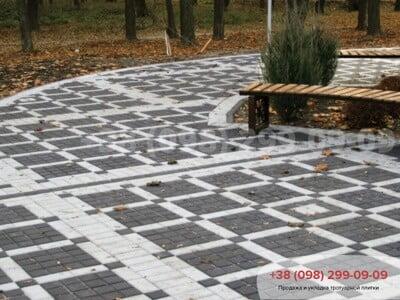 Тротуарная плитка Квадрат 100х100 чернаяфото 2