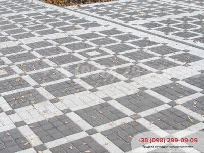 Тротуарная плитка Квадрат 100х100 чернаяфото 1