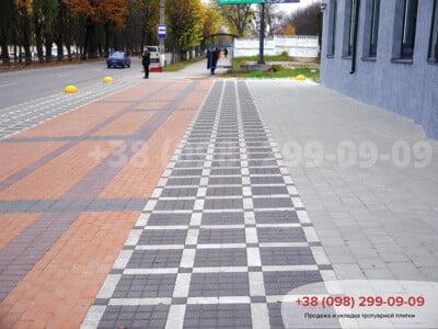 Тротуарная плитка Квадрат 100х100 чернаяфото 5