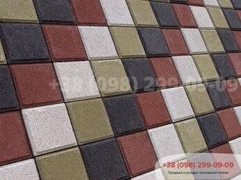 Тротуарная плитка Квадрат 100х100 Горчичныйфото 1