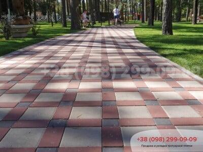 Тротуарная плитка Квадрат 100х100 коричневыйфото 11