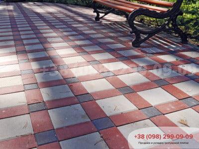 Тротуарная плитка Квадрат 100х100 коричневаяфото 12