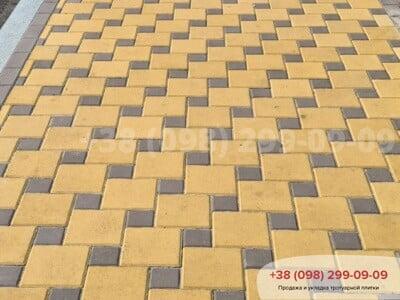 Тротуарная плитка Квадрат 100х100 коричневыйфото 14