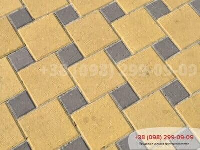 Тротуарная плитка Квадрат 100х100 коричневыйфото 15