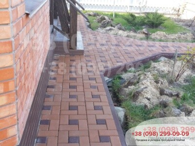Тротуарная плитка Квадрат 100х100 коричневыйфото 3