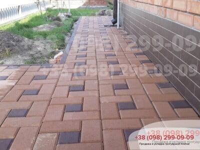 Тротуарная плитка Квадрат 100х100 коричневаяфото 6