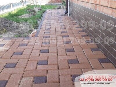 Тротуарная плитка Квадрат 100х100 коричневыйфото 6