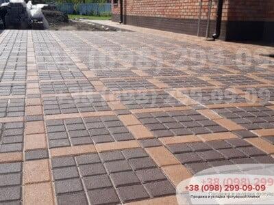 Тротуарная плитка Квадрат 100х100 коричневыйфото 9