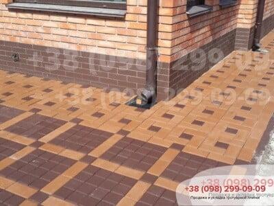 Тротуарная плитка Квадрат 100х100 коричневаяфото 7