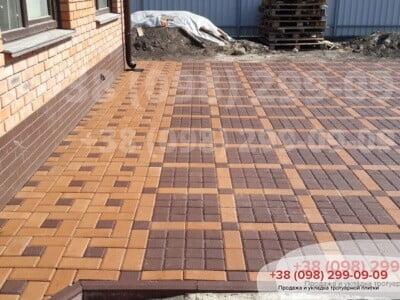 Тротуарная плитка Квадрат 100х100 коричневыйфото 8