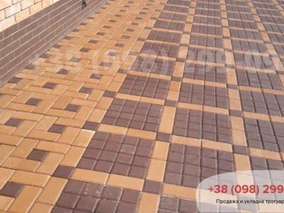 Тротуарная плитка Квадрат 100х100 коричневыйфото 1