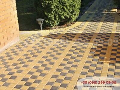 Тротуарная плитка Квадрат 100х100 коричневыйфото 10