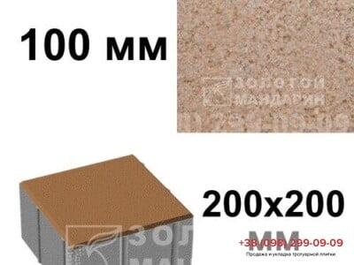 Тротуарная плитка Квадрат 100х100 Персиковаяфото 2