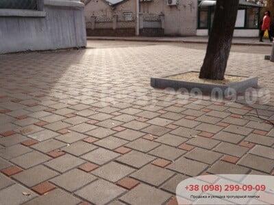 Тротуарная плитка Квадрат 100х100 Персиковаяфото 1