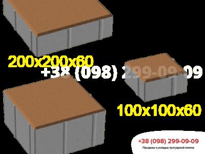 Тротуарная плитка Квадрат 100х100 Персиковаяфото 3