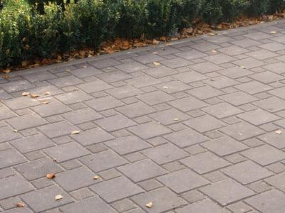 Тротуарная плитка Квадрат 100х100 сераяфото 4
