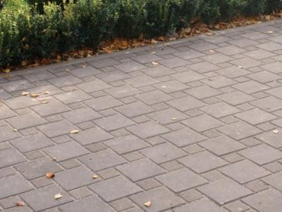 Тротуарная плитка Квадрат 100х100 сераяфото 5