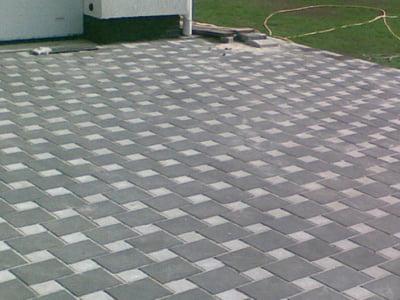 Тротуарная плитка Квадрат 100х100 сераяфото 1
