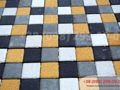 Тротуарная плитка Квадрат 100х100 сераяфото 6