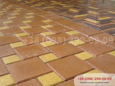 Тротуарная плитка Квадрат 100х100 желтыйфото 1