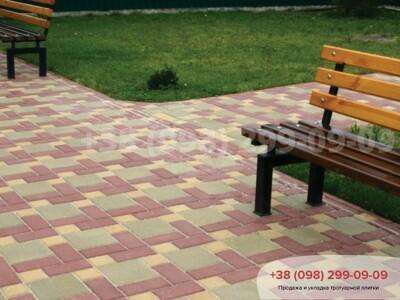 Тротуарная плитка Квадрат 100х100 желтыйфото 3