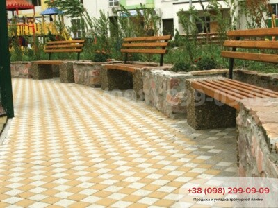 Тротуарная плитка Квадрат 200х200 белаяфото 2