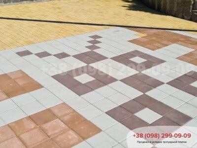 Тротуарная плитка Квадрат 200х200 белаяфото 15