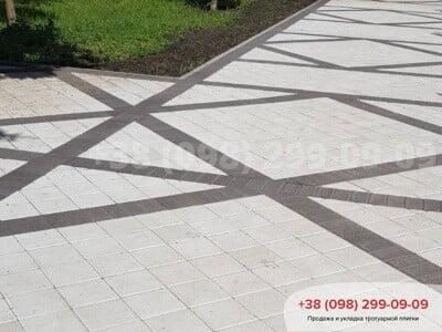 Тротуарная плитка Квадрат 200х200 белаяфото 8
