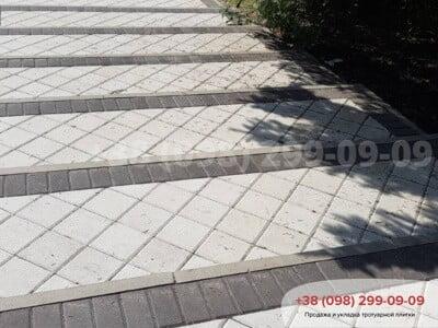 Тротуарная плитка Квадрат 200х200 белаяфото 10