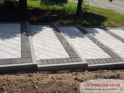 Тротуарная плитка Квадрат 200х200 белаяфото 9