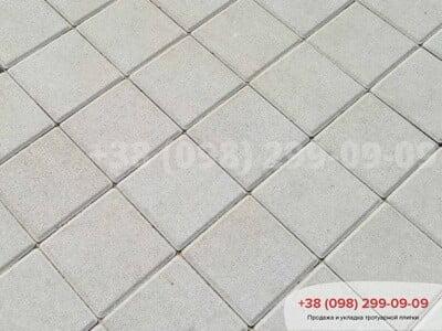 Тротуарная плитка Квадрат 200х200 белаяфото 12
