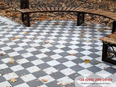 Тротуарная плитка Квадрат 200х200 белаяфото 1