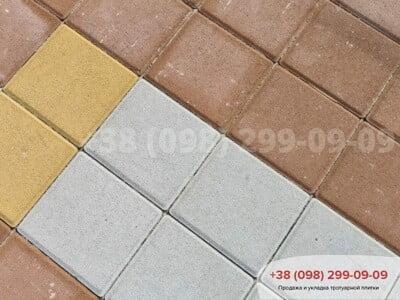 Тротуарная плитка Квадрат 200х200 белаяфото 13