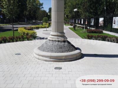 Тротуарная плитка Квадрат 200х200 белаяфото 4