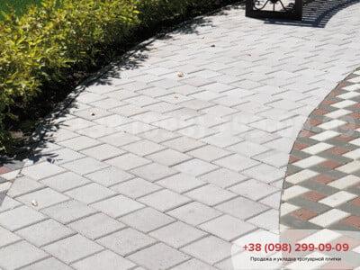 Тротуарная плитка Квадрат 200х200 белаяфото 5