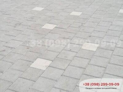 Тротуарная плитка Квадрат 200х200 белаяфото 7