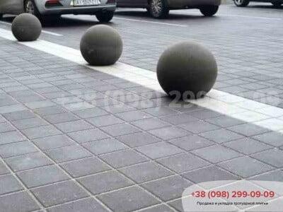 Тротуарная плитка Квадрат 200х200 черныйфото 2
