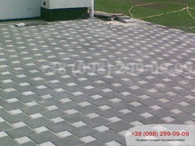 Тротуарная плитка Квадрат 200х200 черныйфото 3